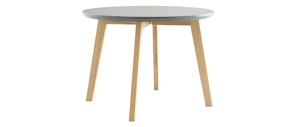 Tavolino design rotondo 50 cm color grigio SARA