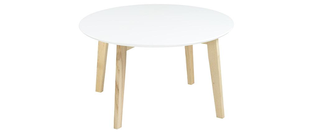 Tavolino design rotondo 80 cm color bianco SARA