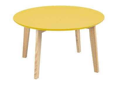 Tavolino design rotondo 80 cm color giallo curry SARA