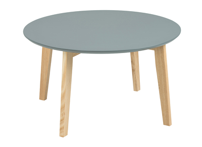 Tavolino design rotondo 80 cm color grigio SARA