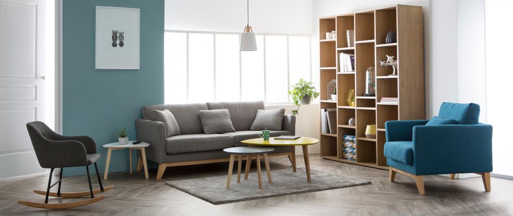Tavolino design triangolare color bianco SARA