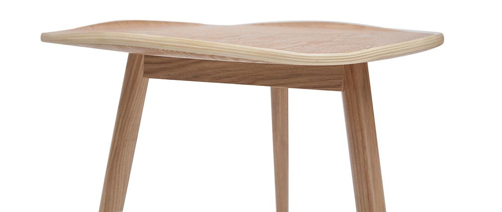 Tavolino in legno a forma di foglia L60 cm PHYLL