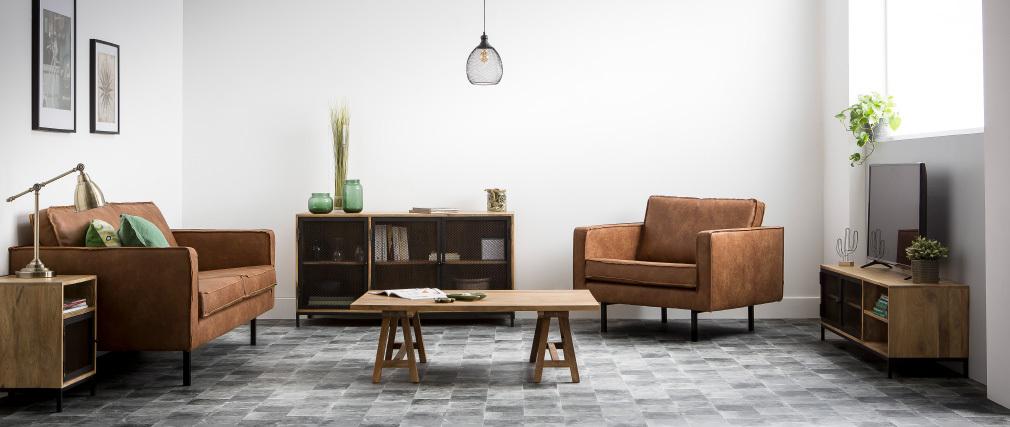 Tavolino in legno stile industriale ANTIQUA