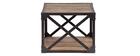 Tavolino industriale in legno e metallo ATELIER