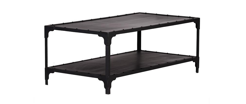 Tavolino metallo nero 120 cm FACTORY