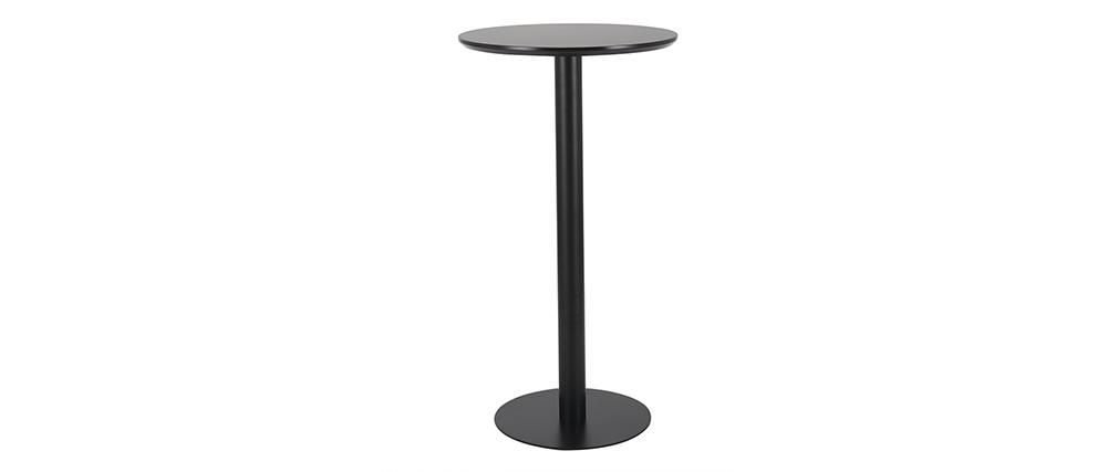 Tavolino per mangiare in piedi forma: rotonda Nero PENCO