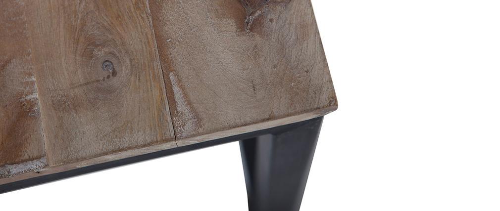Tavolino quadrato in legno e metallo FACTORY