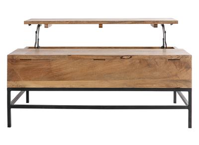 Tavolino rialzabile industriale legno di mango e metallo 110cm YPSTER
