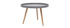 Tavolino rotondo design 60 cm grigio RIX