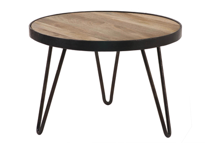 Tavolino rotondo design industriale 50x35cm ATELIER