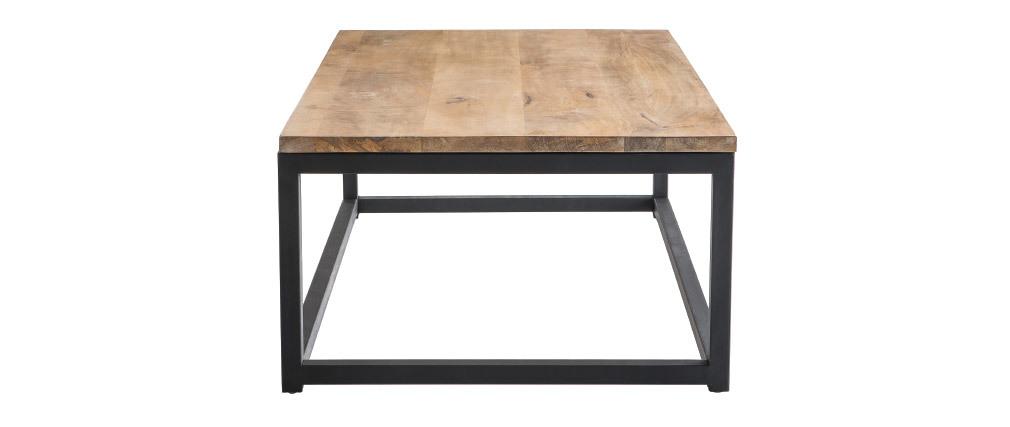 Tavolino stile industriale in legno e metallo FACTORY