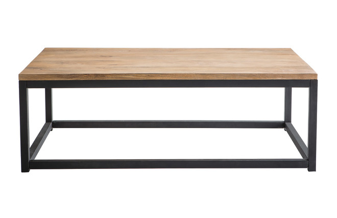 Tavolo Stile Industriale : Tavolino stile industriale in legno e metallo factory miliboo