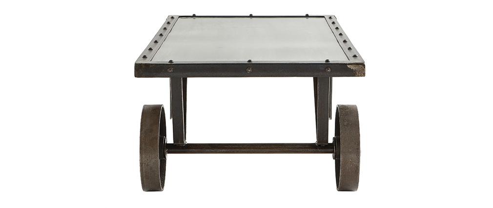 Tavolino stile industriale in metallo CHARIOT
