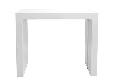 Tavolo allungabile, di design, colore: Bianco brillante, dimensioni: 40-185 cm, modello: CALEB