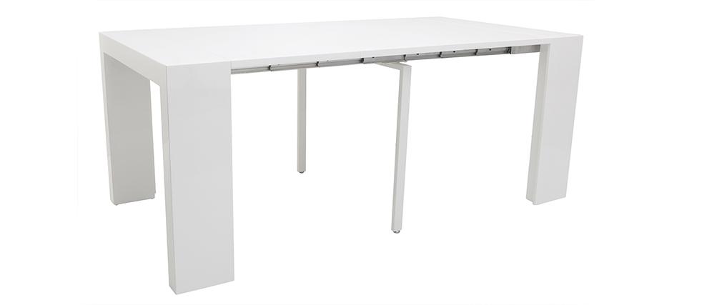 Tavolo allungabile moderno bianco brillante CALEB
