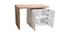 Tavolo bar modulabile con contenitore bianco opaco e rovere H91 cm MAX