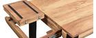 tavolo bar rettangolare in acacia base in metallo nero 130cm TRAP