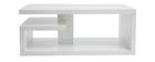 Tavolo basso design laccato bianco L100 cm HALTON
