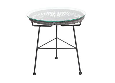 Tavolo complementare da giardino, in fili di resina, colore: Grigio, modello: BELLAVISTA