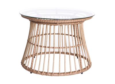 Tavolo complementare in fili di resina, stile giunco, modello: BELLAVISTA