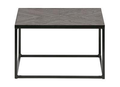 Tavolo complementare, industriale, in metallo, colore: Noce, modello: WOODY