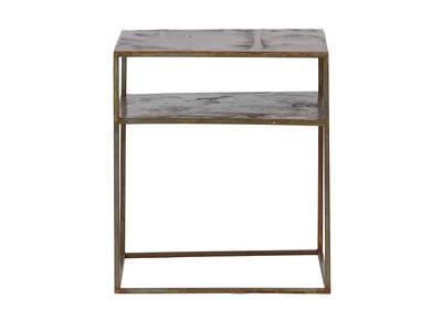 Tavolo complementare, quadrato, in metallo, colore: Ruggine, modello: MOHO