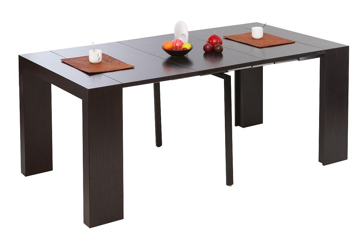 Tavolo consolle estensibile colore cioccolato caleb miliboo for Console tavolo