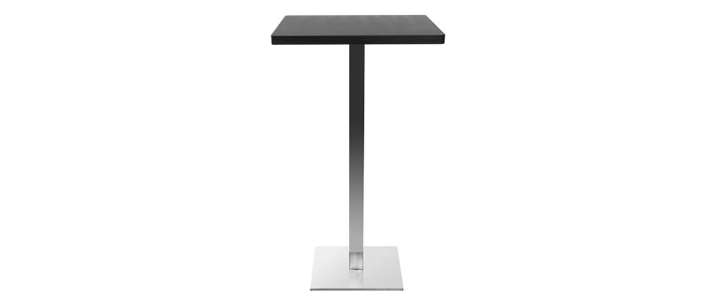 Tavolo da bar design quadrato nero piede centrale JORY