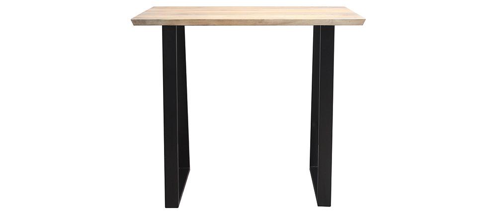 Tavolo da bar in mango e metallo nero L120 cm VIJAY