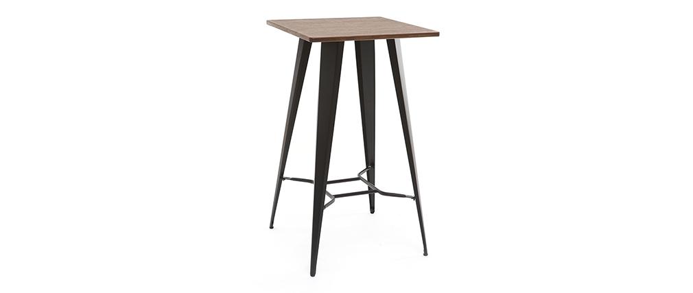 Tavolo da bar in metallo Nero HOCKER