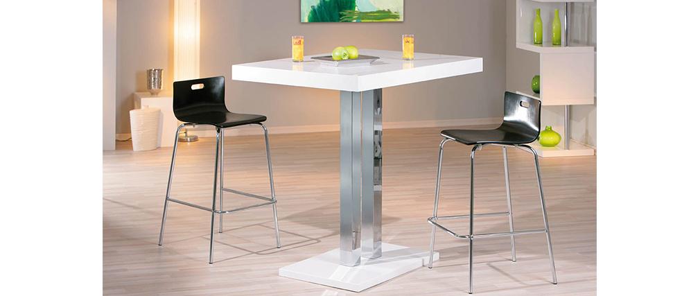 Tavolo da bar laccato in bianco Oriana