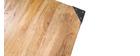 Tavolo da bar quadrato design industriale legno e metallo MADISON