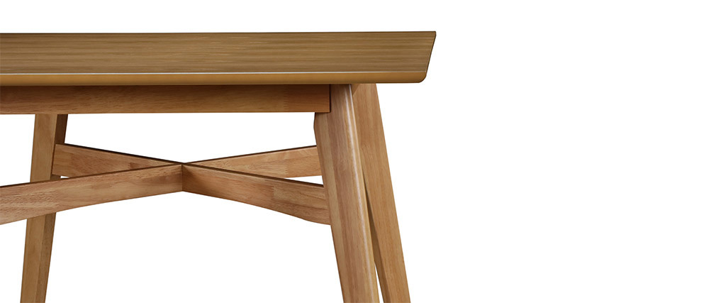 Tavolo da bar quadrato in legno chiaro modello LEENA