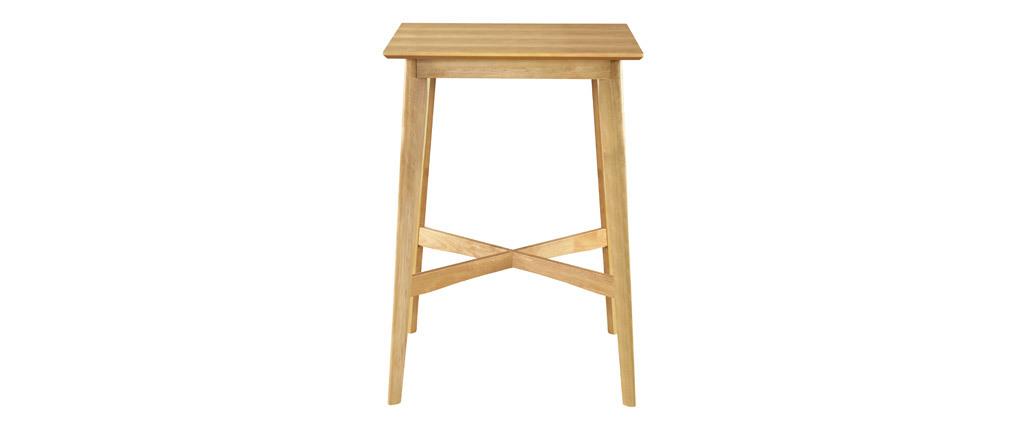 Tavolo da bar quadrato legno chiaro LEENA