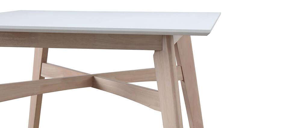 Tavolo da bar quadrato legno e bianco LEENA