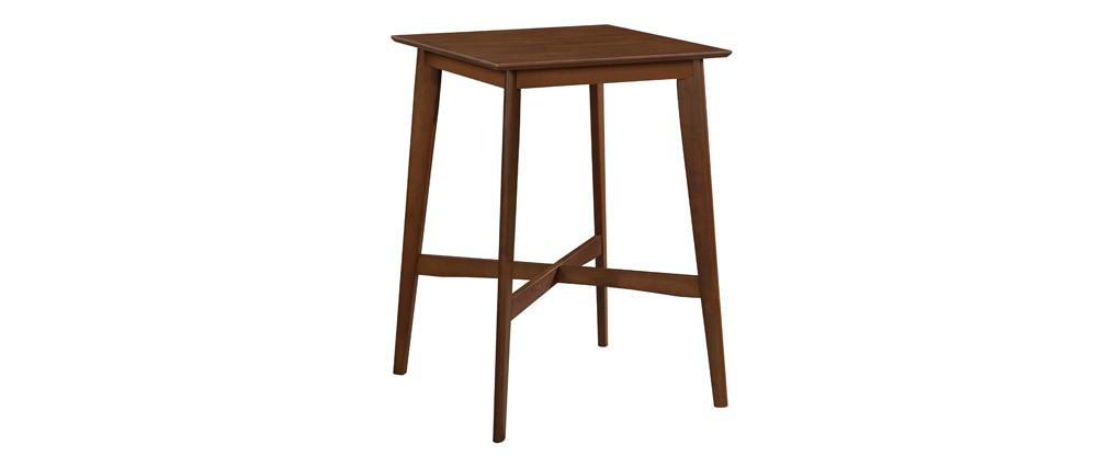 Tavolo da bar quadrato legno scuro noce LEENA