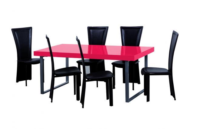 Tavolo Da Pranzo Rosso: Come scegliere il tavolo da pranzo living e soggiorno meka.