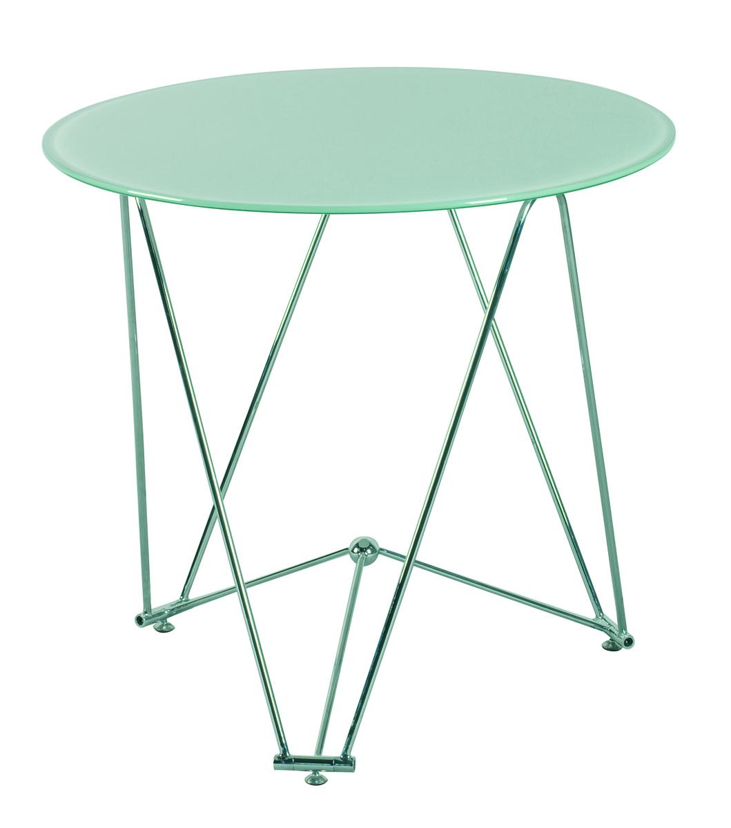 Tavolo Da Cucina / Sala Da Pranzo Rotondo JANIS 80cm Acciaio E Vetro  #1B4237 1059 1200 Tavolo Sala Da Pranzo Rotondo
