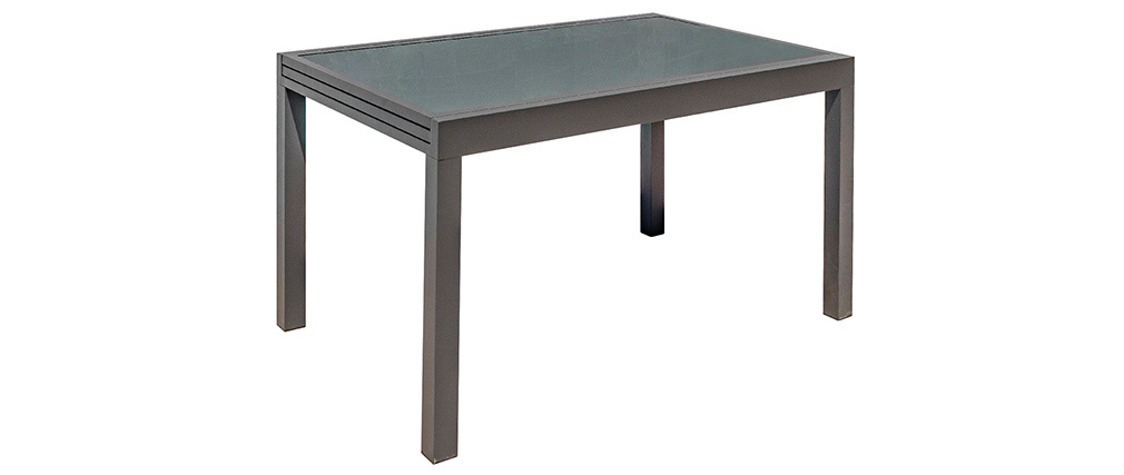 Tavolo da giardino allungabile grigio antracite L135-270 cm PORTOFINO