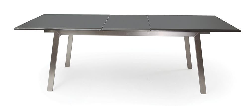 Tavolo da pranzo allungabile design grigio opaco MARNY - Miliboo