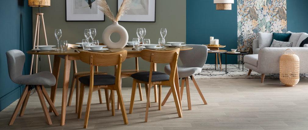 Tavolo da pranzo allungabile design quercia L150-200 MARIK