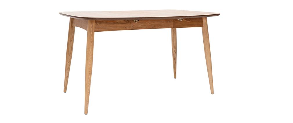 Tavolo da pranzo allungabile in frassino L90-130 cm NORDECO