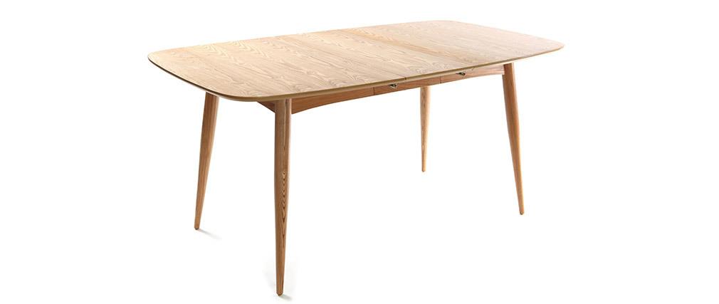 Tavolo da pranzo allungabile in frassino naturale L130-160 NORDECO