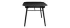 Tavolo da pranzo allungabile in legno nero L150-180 cm SHELDON