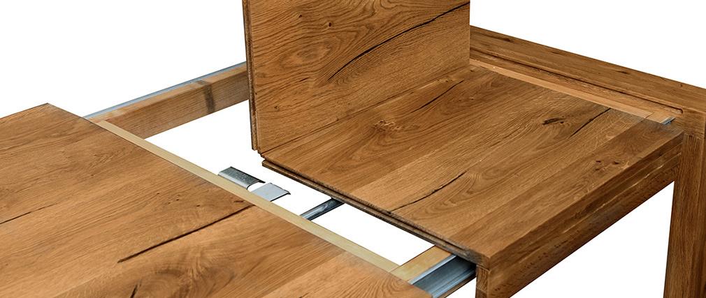 Tavolo da pranzo allungabile in massello di quercia L180-230 cm RAW