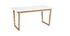 Tavolo da pranzo allungabile legno chiaro e bianco L160-240 cm LAHO