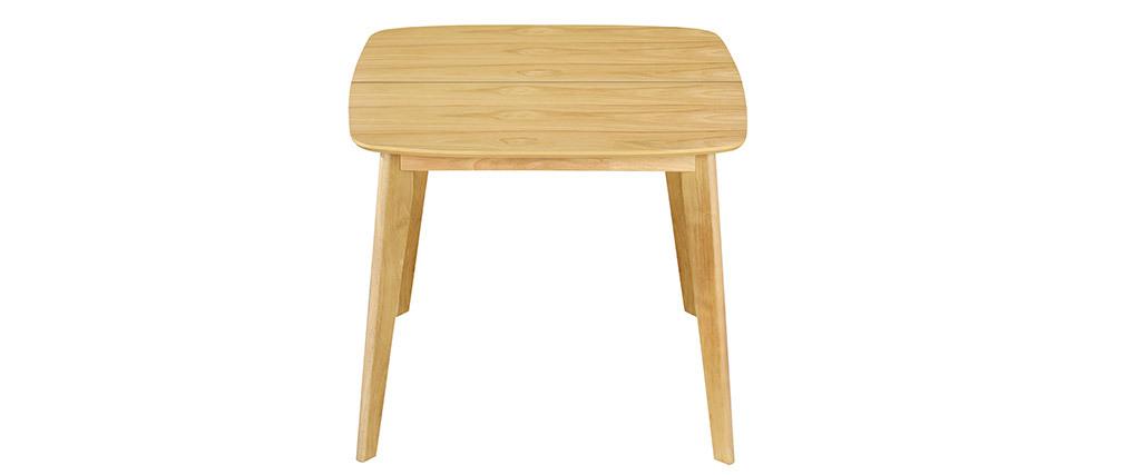 Tavolo da pranzo allungabile scandinavo quadrato in legno chiaro L90-130 LEENA