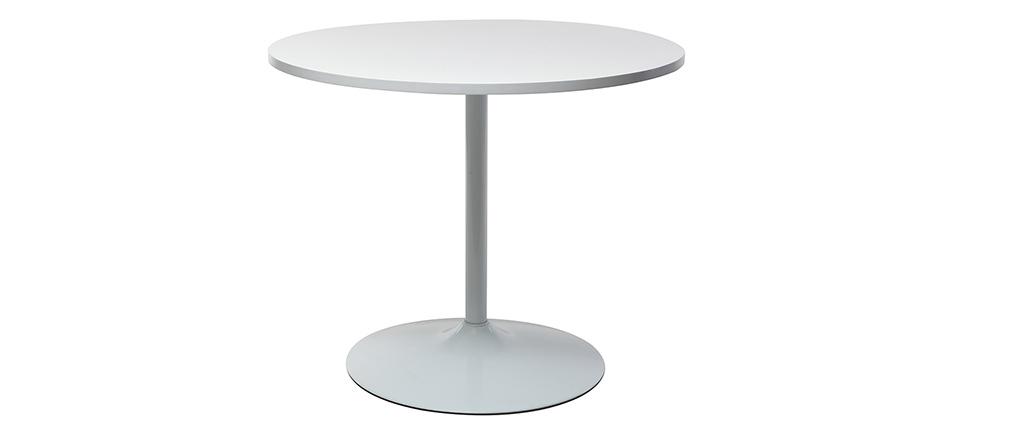 Tavolo da pranzo design 90cm bianco CALISTA