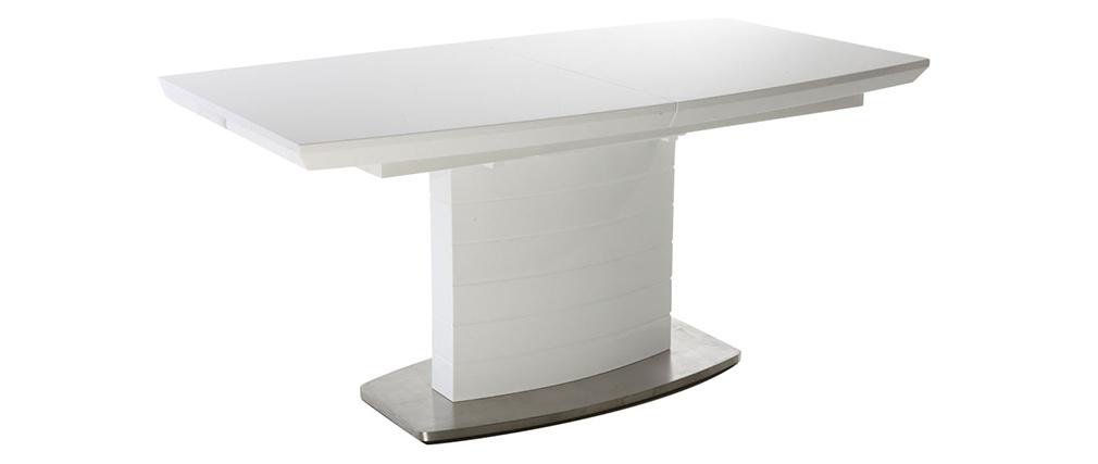 Tavolo da pranzo design allungabile bianco brillante L160-200 ERESOS