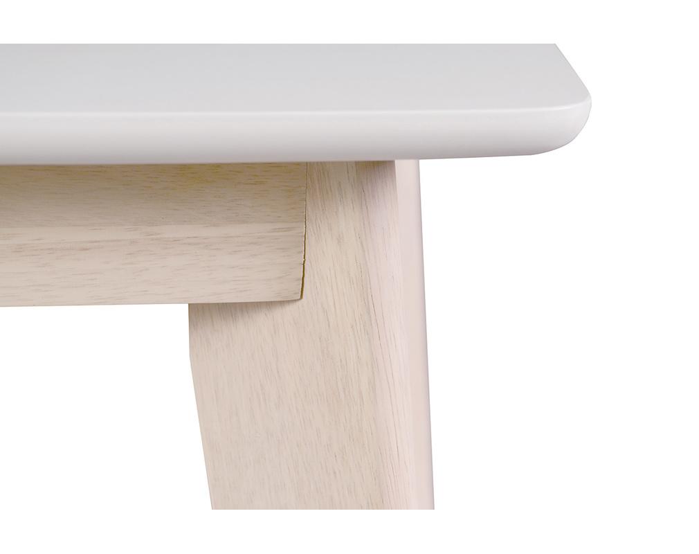 Tavolo Da Pranzo Design Allungabile Bianco E Legno Chiaro L150 200 Leena Miliboo